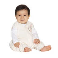 halo sleepsack early walker micro fleece cream fox