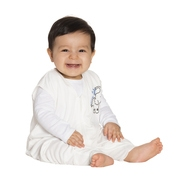 halo sleepsack early walker lighweight knit cream elephant