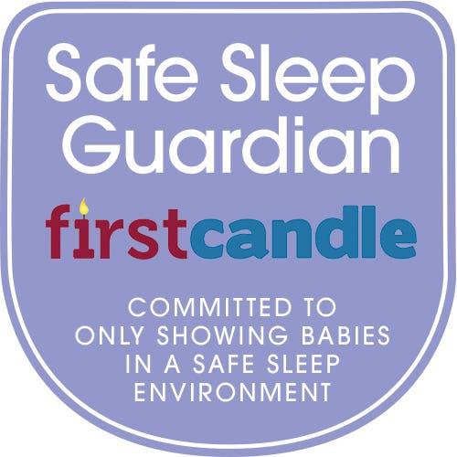safe sleep guardian first candle badge