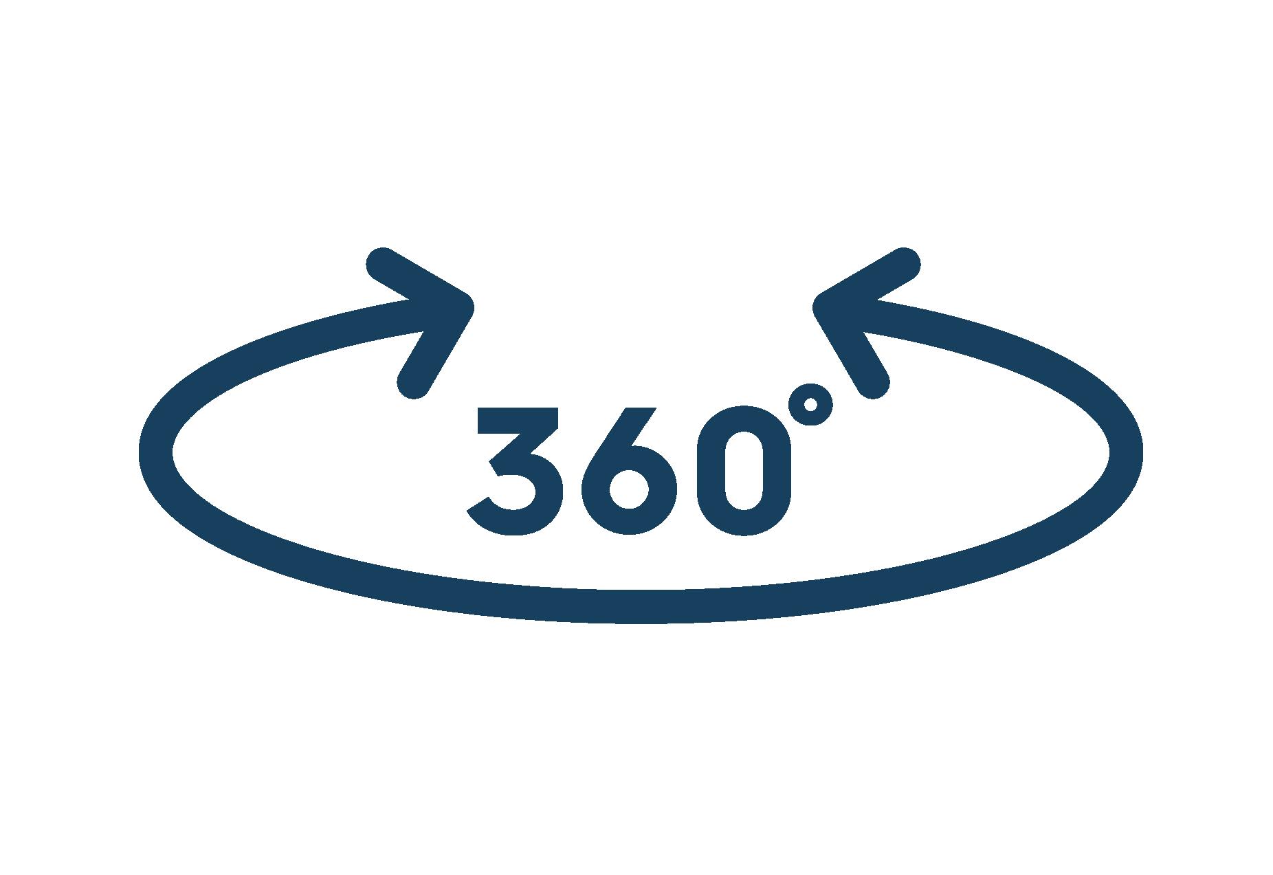 360 degree swivel icon