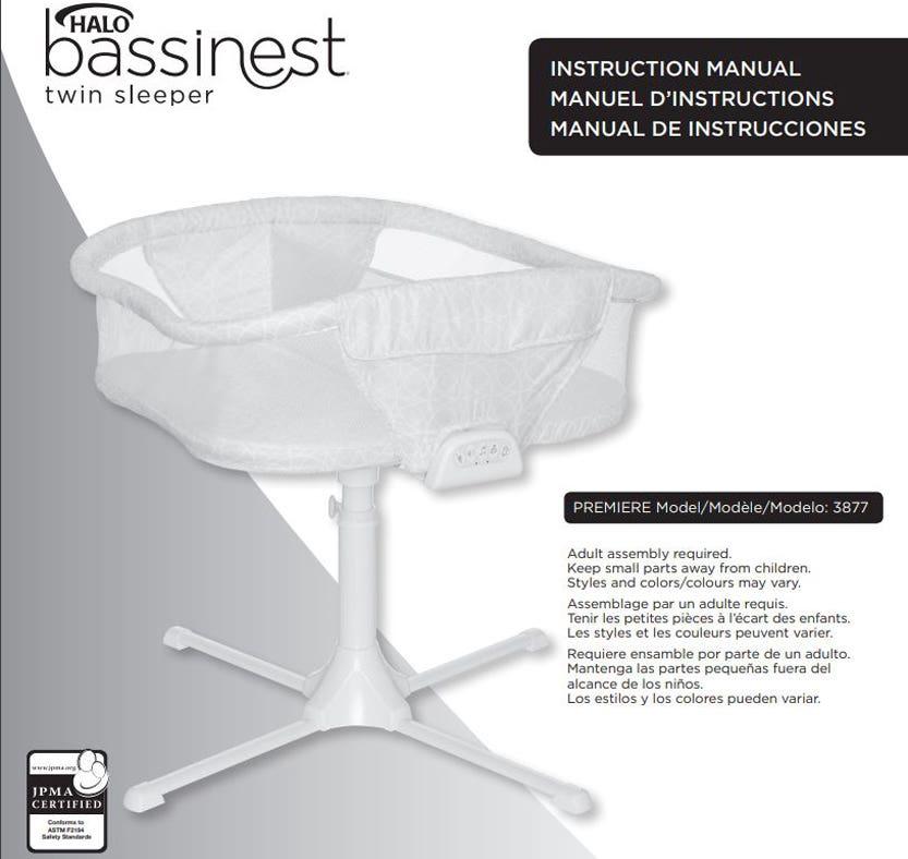 halo bassinest twin sleeper user manual