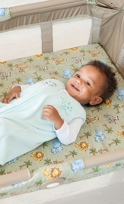 baby in halo sleepsack wearable blanket