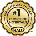 the safer way to sleep number one choice of hospitals badge