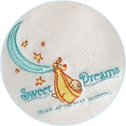 embroidery sample for participating hospitals sweet dreams