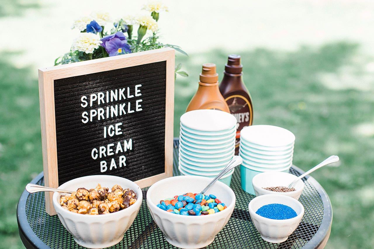 baby sprinkle ice cream dessert bar