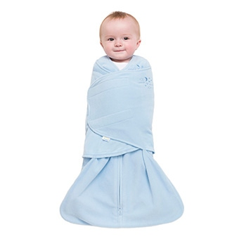 step three of wrapping baby in halo sleepsack swaddle