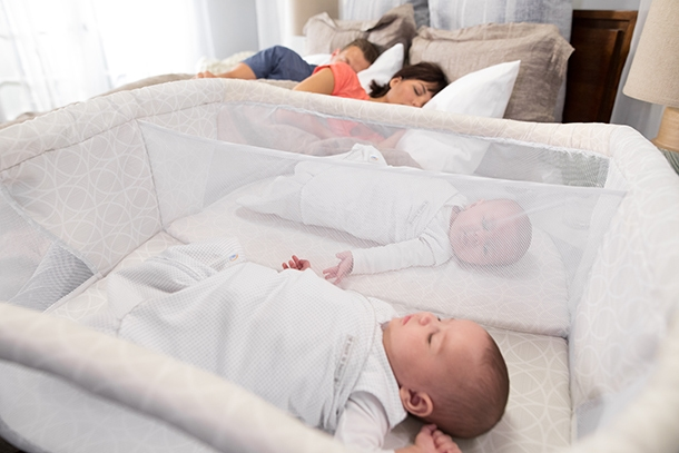 twin babies sleeper in halo bassinest twin sleeper with parents sleeping in bed